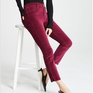 3x1 Higher Ground Merlot Red Velvet Ankle Jeans 26